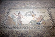 The famous mosaics at the House of Dionysos, Paphos