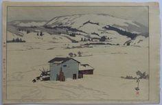 """Hiroshi Yoshida """"Winter in Taguchi"""""""