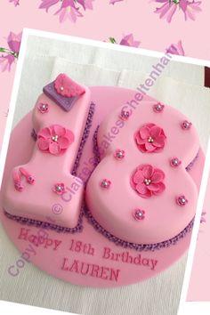 Floral number 18 birthday cake 호게이밍시티랜드생방송식보