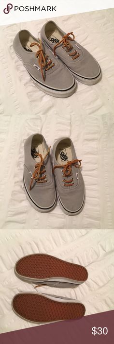 Vans Authentic Canvas sneaker women's size 7.5 Very lightly worn mint Vans for J.Crew canvas sneaker. Women's size 7.5, men's size 6. Leather ties, never worn outside Vans Shoes Sneakers