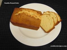 Vanilla Pound Cake,easy recipe and absolutely wonderful.Cake has a delicate texture & i am so excited to share this recipe for moist & fluffy vanilla cake. Easy Cake Recipes, Pound Cake, Cornbread, Vanilla Cake, Easy Meals, Good Food, Cooking, Ethnic Recipes, Baking Center