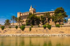 The Palace was the seat of the independent kingdom of Mallorca for many years. The starting point of the building is a Muslim fortress from the century. Balearic Islands, Royal Palace, Muslim, Spain, To Go, Mansions, House Styles, World, Building