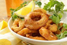 Cómo preparar crujientes anillos de calamar