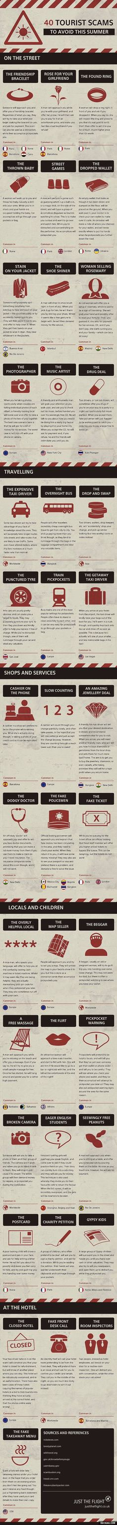 40 tourist scams to avoid - kind of terrified to travel now