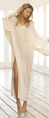 Lovely long nightgowns are a comfy choice all year round.