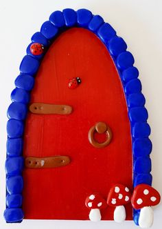 Tooth Fairy Doors, Elf Door, Skirting Boards, Window Sill, Blue Design, Red And Blue, Charms, Nursery, Etsy Shop