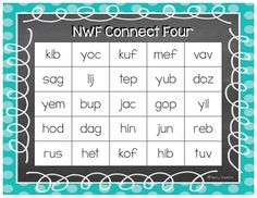 Nonsense Word Activity {Connect Four}