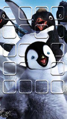 EE! Happy Feet! iPhone 5 icon skin