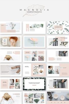 An elegant fashionable versatile presentation template magnolia design line has a soft minimalist aesthetic that s both eye catching and professional powerpoint presentation slides modle de photographie de style rtro modele photographie retro style Ppt Design, Layout Design, Powerpoint Design Templates, Slide Design, Design Cars, Flyer Template, Booklet Design, Graphic Design, Keynote Design