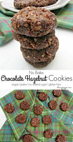 No Bake Chocolate Hazelnut Cookies - a vegan and gluten free healthy cookie recipe   chicagojogger.com