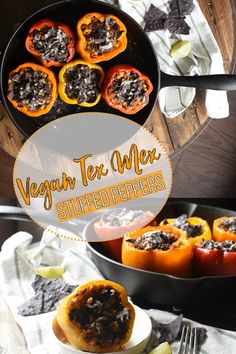 These Vegan Tex Mex Stuffed Peppers are seriously MOUTH WATERING and are so simple to accomplish! Vegan Food, Vegan Recipes, Thing 1, Tex Mex, Crowd, Coconut, Plant, Stuffed Peppers, Entertaining