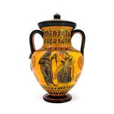 Attica black-figure amphora - dadart Greek Pottery, Black Figure, The Inventors, Mythical Creatures, Period, Vase, Magical Creatures, Mythological Creatures, Vases