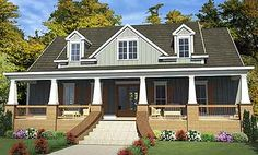 Deep Porches Front And Back - 86215HH | Country, Craftsman, 2nd Floor Master Suite, CAD Available, Den-Office-Library-Study, Jack & Jill Bath, PDF, Corner Lot | Architectural Designs