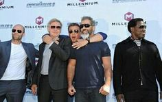 Mel Gibson, Sylvester Stallone, Harrison Ford  Jason Statham and Wesley Snipes  (The Explendables 3)