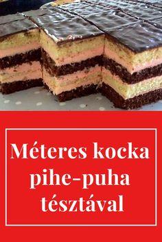 Ebből még az is repetázik, aki vigyáz az alakjára. Hungarian Desserts, Hungarian Recipes, Sweet Desserts, Sweet Recipes, Smoothie Fruit, Cookie Recipes, Dessert Recipes, Tasty, Yummy Food