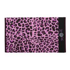 Pink Leopard Print iPad Case by elenaind