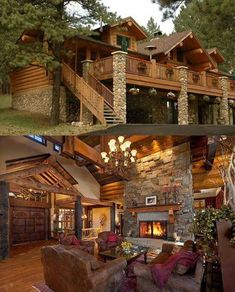 BEAUTIFUL STONE AND TIMBER Cabin, Mansions, House Styles, Home Decor, Mansion Houses, Homemade Home Decor, Manor Houses, Cubicle, Fancy Houses