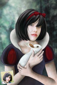 Nouveau portrait sur le thème de Blanche Neige et les sept nains. Visitez notre boutique sur portrait-perso.com.