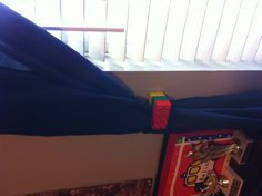 I'm doing this for Macs room! Lego curtain tie back DIY curtain ties.