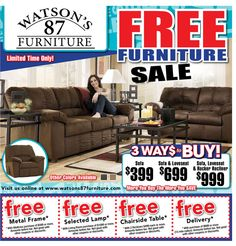 furniture store newspaper ads. Watson\u0027s 87 Furniture Store Newspaper Ads