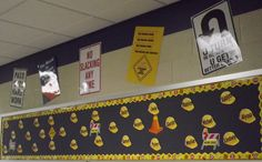 "Beginning of the year display...""The road to success is always under construction!"""