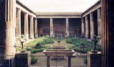 """Die Ausgrabungsstätten von Pompeji - Das säulenumstandene Peristyl der """"Casa der Vetti"""""""