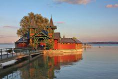 Stunning bathing house in Keszthely, Lake Balaton, Hungary