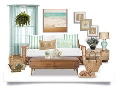 Beach Cottage by terry-tlc on Polyvore featuring interior, interiors, interior design, home, home decor, interior decorating, Serena & Lily, Home Decorators Collection, Verge and Barclay Butera