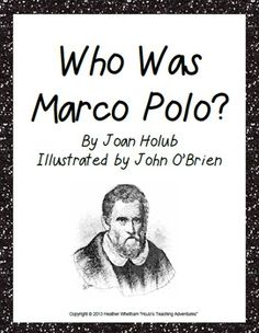 """If your students read the book """"Who Was Marco Polo?"""" by Joan Holub, you'll want this set of comprehension questions! $"""