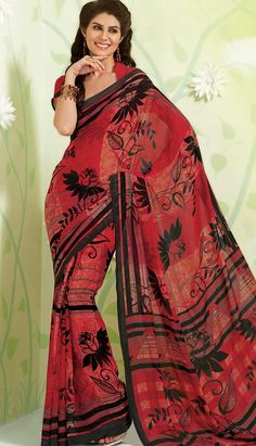Shop Bollywood Latest Mehroon Georgette #PrintedSaree Product code: KPS-39017 Price: INR1463 (Unstitch Blouse), Color: Mehroon Shop Online now: http://www.efello.co/Saree_Bollywood-Latest-Mehroon-Georgette-Printed-Saree,-Sari_37594