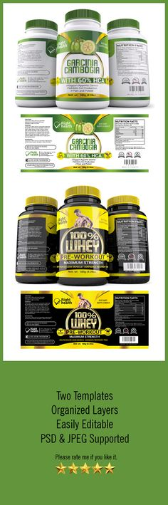 Supplement Label Template Vol-08 Label templates, Ai illustrator - package label template