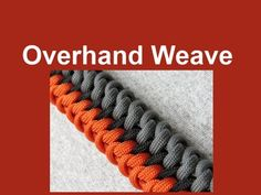 "How to make an Overhand Weave Paracord Bracelet (5/8"" buckle)"