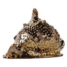 Urban Trends Ceramic Spiny Conch Seashell Sculpture Gold - 27343