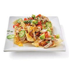 Low Fat Super Bowl Recipes: Pork and Pinto Bean Nachos | CookingLight.com