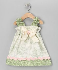 Love this Green Forrest Cheetah Sweetie Pie Dress - Infant & Toddler by Caught Ya Lookin' on #zulily! #zulilyfinds