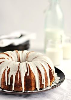 Vanilla bean bundt cake. I made this and it was awesome. The real vanilla is the key!