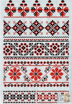 Gallery.ru / Фото #40 - схемы для рушников - anapa-mama Top row- super cool! Cat Cross Stitches, Cross Stitch Borders, Cross Stitch Charts, Cross Stitch Designs, Cross Stitching, Cross Stitch Patterns, Folk Embroidery, Cross Stitch Embroidery, Embroidery Patterns