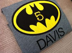 Batman Applique Batman Birthday Shirt by LaBarrieLittles on Etsy, $25.00