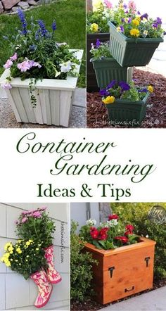 5 Easy DIY Container Gardens (and How to Fill Them!)  How to garden in small spaces like patios using planters and pots