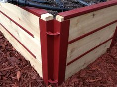 We use our custom make corner brackets on all of out raised beds.  They help the raised bed look nice and last longer.