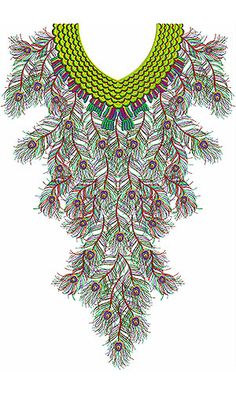 MorPinch Neck Embroidery Designs