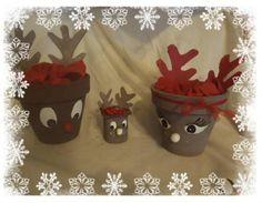 Pot de fleur renne de noel - Activité manuelle et bricolage pour enfant