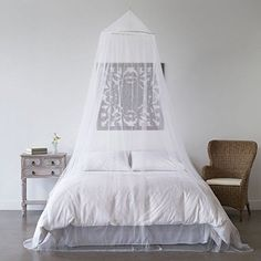 Mosquito Net Bed Canopy - Bug Screen Repellant - Conical Curtains for Twin, Full, Queen & King Beds - Repels Insects Carrying Malaria & Diseases - Home or Travel Use - Includes Hardware ** Be sure to check out this awesome product.