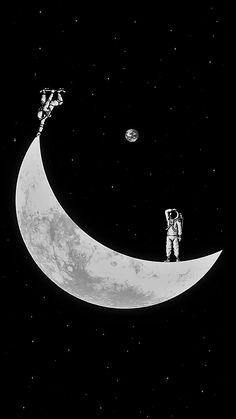 space astronaut skate moon Dark Wallpaper, Galaxy Wallpaper, Wallpaper Backgrounds, Space Drawings, Space Artwork, Android Wallpaper Space, Astronaut Wallpaper, 8bit Art, Space Illustration