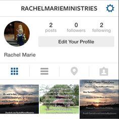 Just created an Instagram for my ministry: RachelMarieMinistries   #follow #instagram