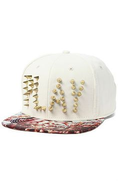 a17aed4a Play Cloths The Sharky Studded Strapback Hat in Eggnog : Karmaloop.com -  Strapback Hats