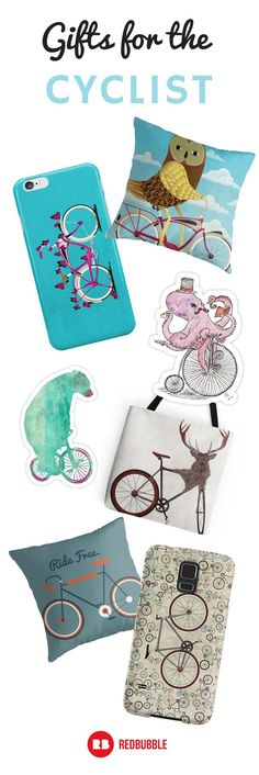 We've got the perfect gift for the person who is always on two wheels. Find artist designed tee shirts, phone cases and more for the cyclist in your life. #bicycle #gifts