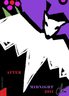 JACQUELINE DITT - After Midnight ltd.ACEO Grafik Mini ger.sign. Fledermaus Bat