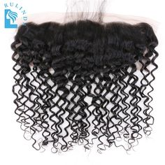 (61.75$)  Buy here  - Rulinda Deep Curly Brazilian Non-Remy Hair Natural Color 13*4 Lace Frontal Closure Free Shipping