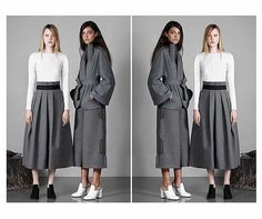 #Inspiration Bold silhouettes by Osman in their RESORT 16 collection // #vicandbertuk #vicandbert #osman #osmanstudio #lfw #fashion #fashionbloggers #fblogger #fbloggers #fbloggersuk #style #styleblogger #stylist #stylish #styling #lookgood #outfit #outfitoftheday #ootd #instafashion #grey #white #skirt #ss16 #resort16 #summer #spring #lfl #l4l